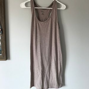 Long Tan Striped Nightgown/Comfy Dress